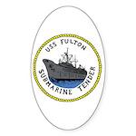 USS Fulton (AS 11) Oval Sticker (10 pk)