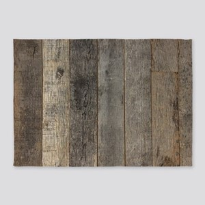 country farmhouse barn wood 5'x7'Area Rug