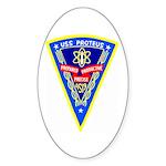 USS Proteus (AS 19) Oval Sticker (50 pk)