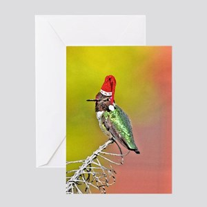 Hummingbird christmas greeting cards cafepress ho ho ho hummingbird iii greeting card m4hsunfo