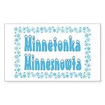 Minnetonka Minnesnowta Rectangle Sticker 10 pk)