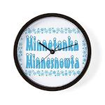 Minnetonka Minnesnowta Wall Clock