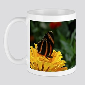 Banded Orange Butterfly Mug