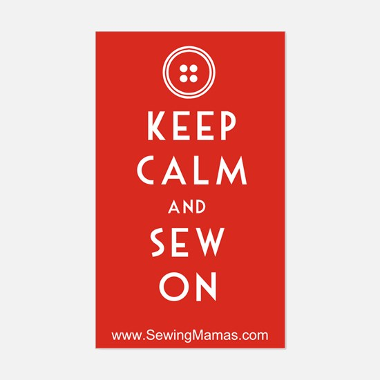 Sewing Mama Sew On Sticker (Rectangle)