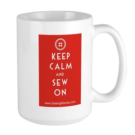 Sewing Mama Sew On Large Mug