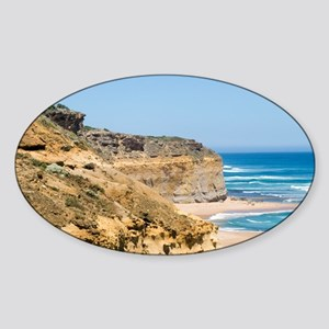 Australia Coastline Oval Sticker