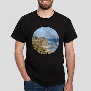 Australia Coastline Black T-Shirt