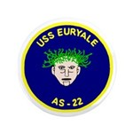 """USS Euryale (AS 22) 3.5"""" Button (100 pack)"""