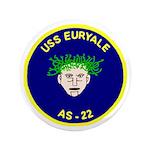 "USS Euryale (AS 22) 3.5"" Button"