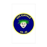 USS Euryale (AS 22) Rectangle Sticker 10 pk)