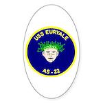 USS Euryale (AS 22) Oval Sticker (50 pk)