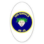 USS Euryale (AS 22) Oval Sticker (10 pk)
