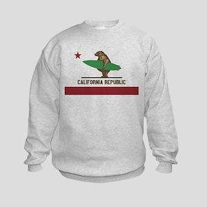 California Surfing Bear Sweatshirt