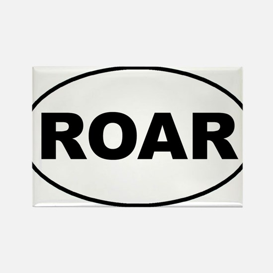 Roar oval-white Magnets