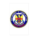 USS Emory S. Land (AS 39) Rectangle Sticker 50 pk