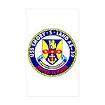 USS Emory S. Land (AS 39) Rectangle Sticker 10 pk