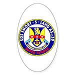 USS Emory S. Land (AS 39) Oval Sticker (10 pk)
