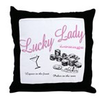 Lucky Lady Lounge Throw Pillow