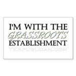 I'm With Grassroots Establish Rectangle Sticker