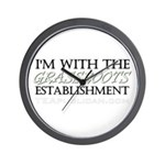 I'm With Grassroots Establish Wall Clock