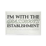 I'm With Grassroots Establish Rectangle Magnet (10