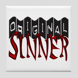 Original Sinner Tile Coaster