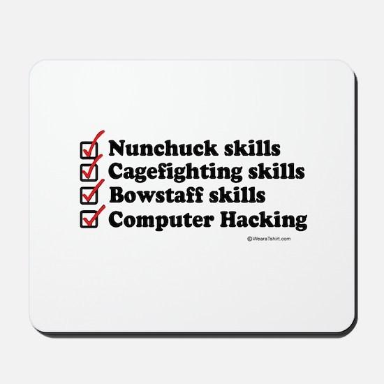 Skills Checklist ~  Mousepad
