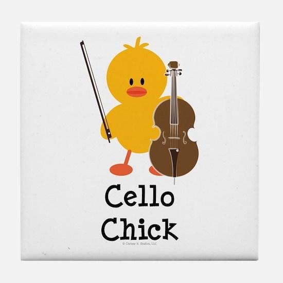 Cello Chick Tile Coaster