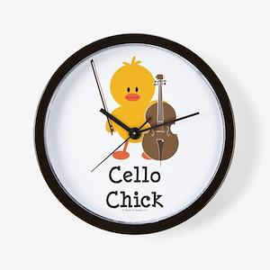 Cello Chick Wall Clock