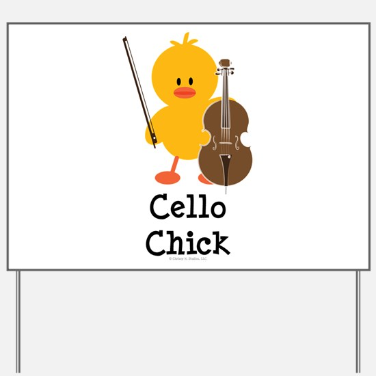 Cello Chick Yard Sign