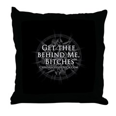 Get Thee Behind Me Throw Pillow