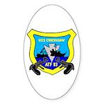 USS Chickasaw (ATF 83) Oval Sticker (10 pk)