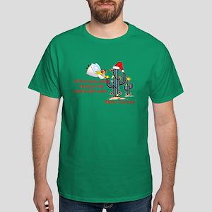 Christmas Cactus Dark T-Shirt