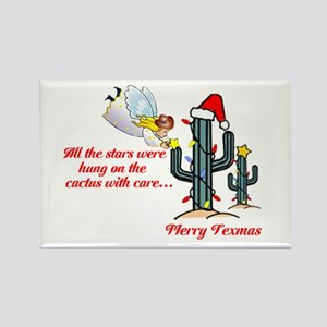 Christmas Cactus Rectangle Magnet
