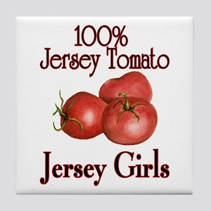 Jersey Tomatos Tile Coaster