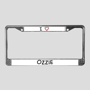 I Love Ozzie License Plate Frame