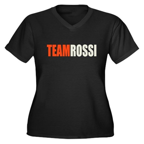 Team Rossi Women's Plus Size V-Neck Dark T-Shirt