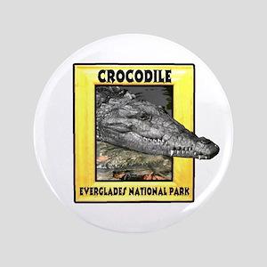 "Everglades National Park Croc 3.5"" Button"