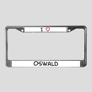 I Love Oswald License Plate Frame