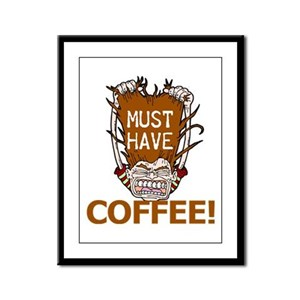 Must Have Coffee Framed Panel Print