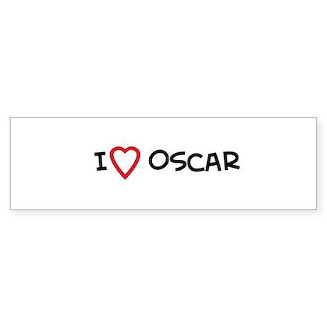 I Love Oscar Bumper Sticker