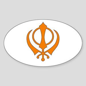 Khanda Oval Sticker