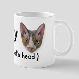 Heart my cat's head Mug