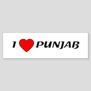 I love Punjab Bumper Sticker