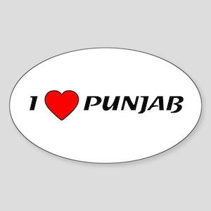 I Love Punjab Oval Sticker
