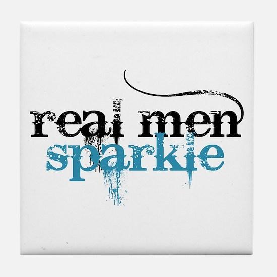 Real Men Sparkle 2 Tile Coaster