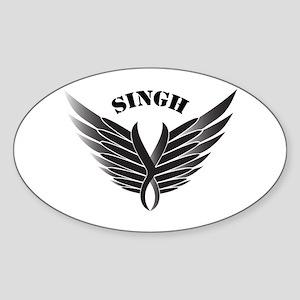 Singh wings Oval Sticker