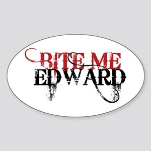Bite Me Edward 2 Oval Sticker