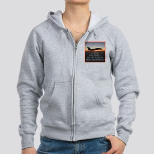 SMELL OF JET FUEL Women's Zip Hoodie