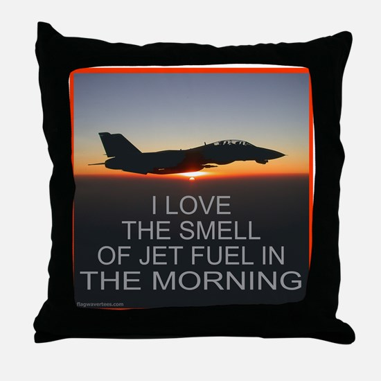 SMELL OF JET FUEL Throw Pillow